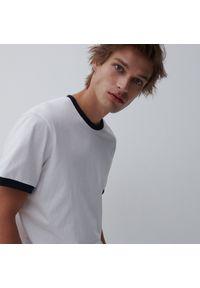 Reserved - Koszulka z bawełny organicznej - Biały. Kolor: biały. Materiał: bawełna