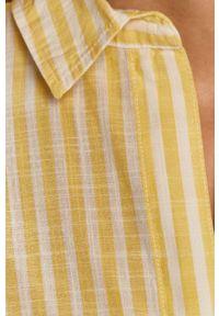 Żółta koszula Wrangler casualowa, z długim rękawem, na co dzień, długa