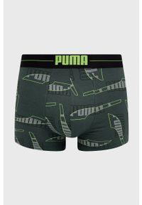 Puma - Bokserki (2-pack). Kolor: zielony