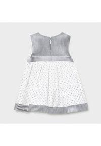 Mayoral Sukienka codzienna 1804 Biały Regular Fit. Okazja: na co dzień. Kolor: biały. Typ sukienki: proste. Styl: casual