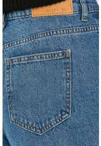 Niebieskie proste jeansy Noisy may z podwyższonym stanem