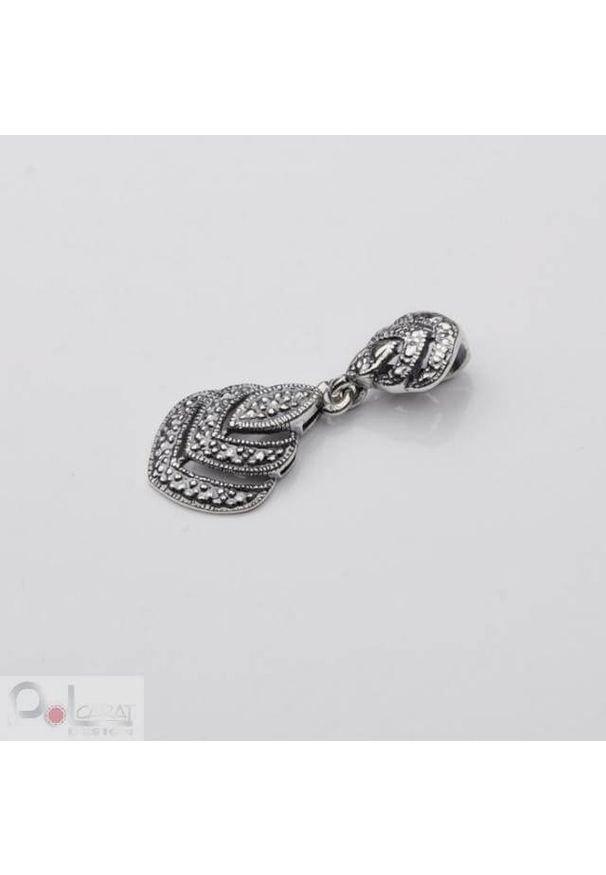 Polcarat Design - Wisiorek srebro oksydowane W 997. Materiał: srebrne
