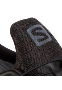 Czarne buty do biegania salomon z cholewką, Gore-Tex