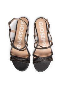 Czarne sandały Gioseppo z aplikacjami, casualowe, na co dzień