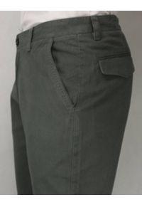 Chiao - Stylowe Spodnie Męskie, Casual, 100% BAWEŁNA, Chinosy, Grafitowe, Szare. Okazja: na co dzień. Kolor: szary. Materiał: bawełna. Styl: elegancki, casual