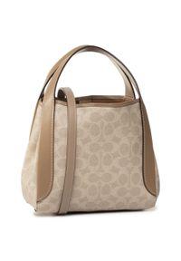 Beżowa torebka klasyczna Coach klasyczna