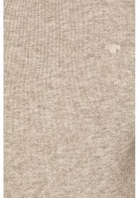 Szary sweter Tom Tailor Denim casualowy, na co dzień, z okrągłym kołnierzem