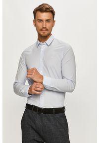 Niebieska koszula Calvin Klein na co dzień, z klasycznym kołnierzykiem