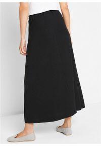 Spódnica z dżerseju bonprix czarny. Kolor: czarny. Materiał: jersey