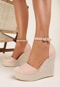 Renee - Różowe Sandały Eusitos. Kolor: różowy