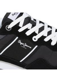 Pepe Jeans - Sneakersy PEPE JEANS - Cross 4 Sailor PMS30702 Black 999. Kolor: czarny. Materiał: skóra, materiał, zamsz. Szerokość cholewki: normalna