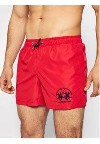 La Martina Szorty kąpielowe RMM001 PA023 Czerwony Regular Fit. Kolor: czerwony