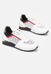 Born2be - Białe Sneakersy Diodone. Okazja: na co dzień. Wysokość cholewki: przed kostkę. Kolor: biały. Materiał: materiał. Szerokość cholewki: normalna