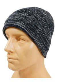 Niebieska czapka Pako Jeans na zimę, melanż