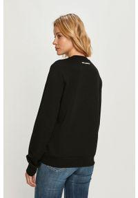 Czarna bluza Karl Lagerfeld z nadrukiem, długa