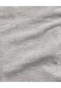 Ralph Lauren - RALPH LAUREN - Koszula Mesh Custom Fit. Typ kołnierza: polo. Kolor: szary. Materiał: mesh. Długość rękawa: długi rękaw. Długość: długie. Wzór: haft. Styl: klasyczny