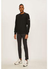Czarna bluza nierozpinana Calvin Klein Jeans bez kaptura, gładkie, na co dzień, casualowa