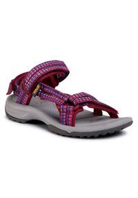 Fioletowe sandały Teva casualowe, na co dzień