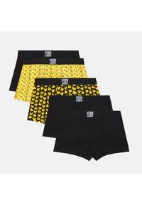 5 pack bokserek z nadrukiem - Żółty