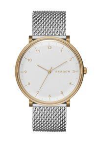 Skagen - Zegarek SKW6170. Kolor: srebrny. Materiał: materiał