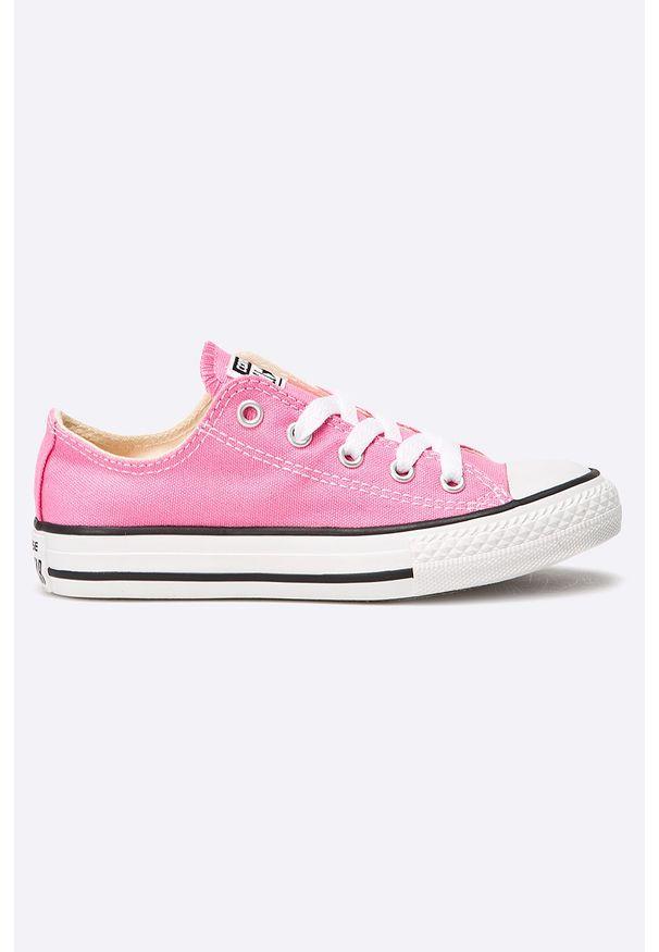 Różowe trampki Converse z cholewką, z okrągłym noskiem