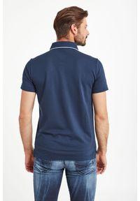 Koszulka polo Emporio Armani Swimwear sportowa, w jednolite wzory