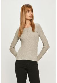 Szary sweter only krótki, z długim rękawem