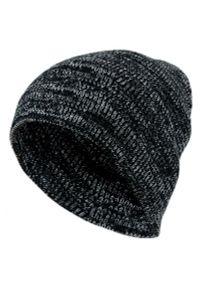 Czarna czapka Pako Jeans na zimę, melanż