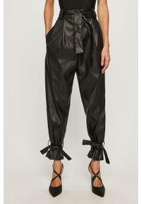 Czarne spodnie materiałowe Haily's z podwyższonym stanem