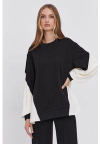 TwinSet - Twinset - Bluza. Kolor: czarny. Długość rękawa: długi rękaw. Długość: długie