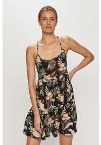 Wielokolorowa sukienka Roxy na co dzień, na ramiączkach, w kwiaty