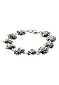 Polcarat Design - Bransoletka srebrna z cyrkoniami L 1645. Materiał: srebrne. Kolor: srebrny. Wzór: aplikacja. Kamień szlachetny: cyrkonia