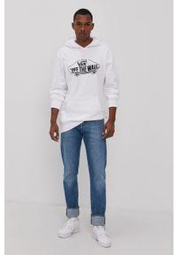 Vans - Bluza bawełniana. Kolor: biały. Materiał: bawełna. Wzór: nadruk