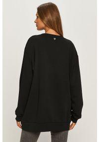 Czarna bluza TwinSet bez kaptura, z haftami