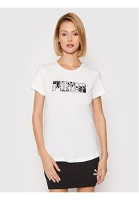 Puma T-Shirt Summer 582051 Biały Regular Fit. Kolor: biały
