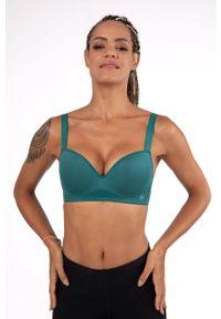Zielony biustonosz sportowy Dorina gładki
