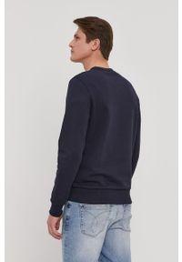 Niebieska bluza nierozpinana Calvin Klein z nadrukiem, na co dzień, casualowa