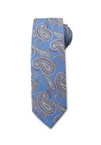 Niebieski krawat Chattier paisley, wizytowy