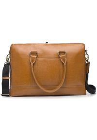Brązowa torba na laptopa Solier elegancka