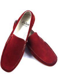 Czerwone półbuty Faber na lato, klasyczne