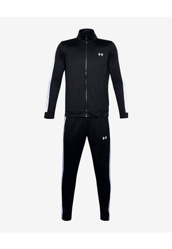 Czarna bluza Under Armour długa, bez kaptura, w kolorowe wzory
