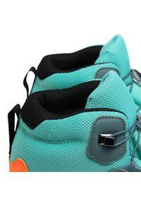Zielone buty trekkingowe Adidas z cholewką