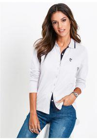 Biała bluzka bonprix polo