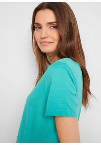 Shirt z dekoltem w serek (2 szt.) bonprix zielony oceaniczny -biały. Typ kołnierza: dekolt w serek. Kolor: zielony. Długość rękawa: krótki rękaw. Długość: krótkie. Styl: klasyczny