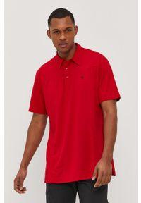 Wrangler - Polo ATG. Typ kołnierza: polo. Kolor: czerwony. Materiał: dzianina, materiał. Wzór: gładki
