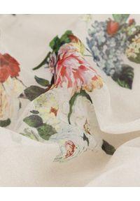 JENESEQUA - Jedwabna sukienka Vannes. Kolor: beżowy. Materiał: jedwab. Wzór: kwiaty, nadruk, aplikacja. Długość: midi