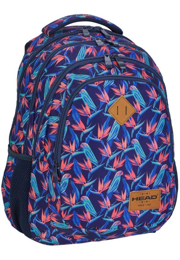 ALWAYS WILD - Plecak szkolny granatowy Always Wild HD-213 HEAD 3. Kolor: niebieski. Materiał: materiał. Wzór: nadruk, aplikacja. Styl: sportowy