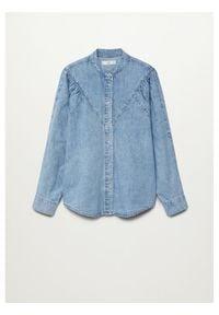 mango - Mango Koszula jeansowa Lola 87044770 Niebieski Regular Fit. Kolor: niebieski. Materiał: jeans