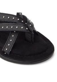 Czarne sandały QUAZI casualowe, na co dzień