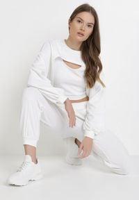 Born2be - Biały 3-Częściowy Komplet Lamipheia. Kolor: biały. Materiał: dzianina, prążkowany. Sport: wspinaczka
